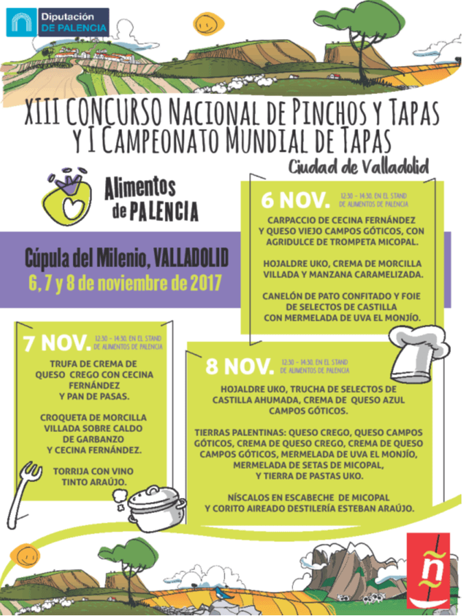 XIII Concurso Nacional de Pinchos Ciudad de Valladolid y I Campeonato Mundial de Tapas