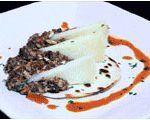 Revuelto de Morcilla y piñones con queso del Cerrato