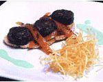 Tosta de Morcilla con pimiento asado de Torquemada