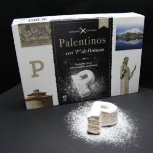 """Caja de hojaldres Palentinos con """"P"""" 'Exlual'"""