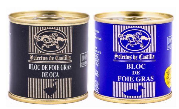 Lote de 2 latas de 95 gr. bloc de Foie Gras (oca y pato)