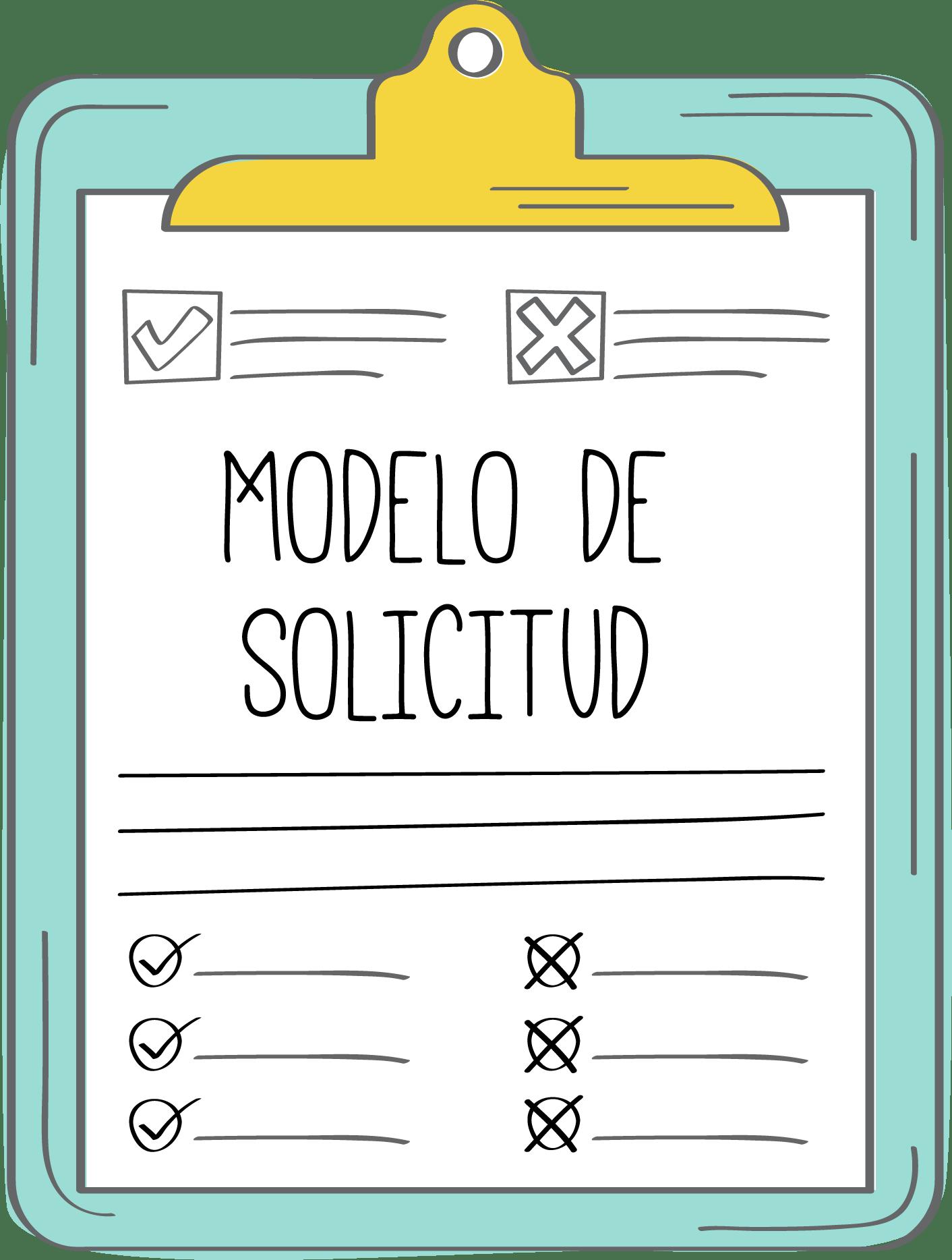 MODELO DE SOLICITUD