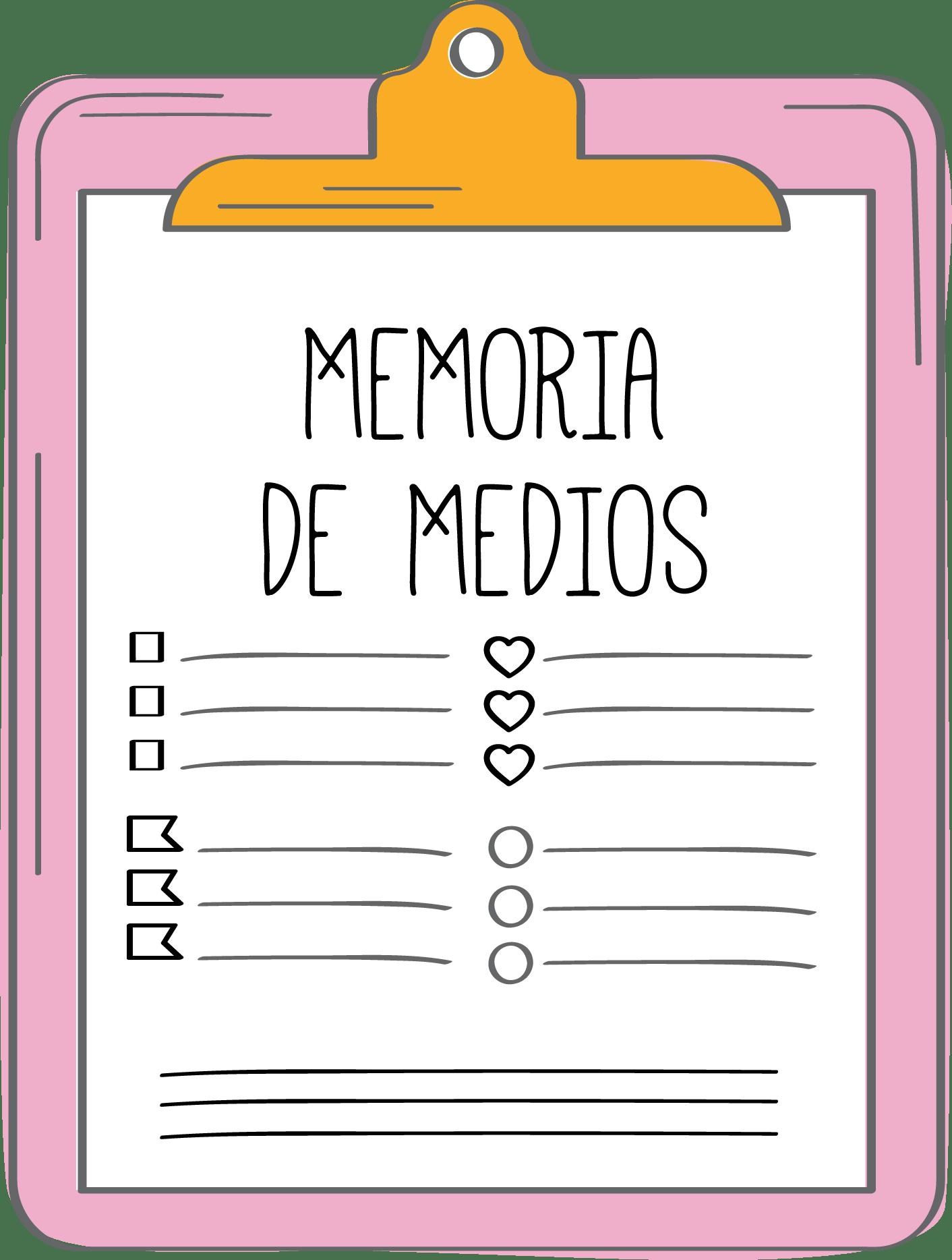 MEMORIA DE MEDIOS